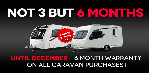 6 month warranty on all caravans